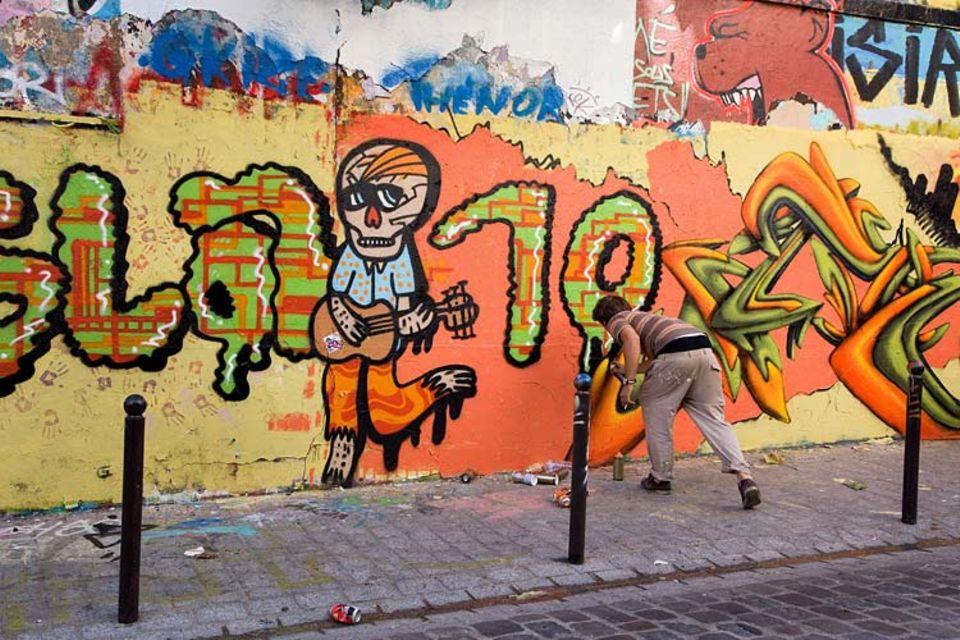 Streetartist in Belleville