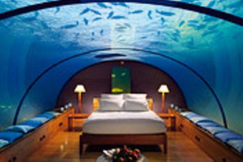 Unterwasserhotel: Unterwasserhotels: Zimmer mit Meerblick