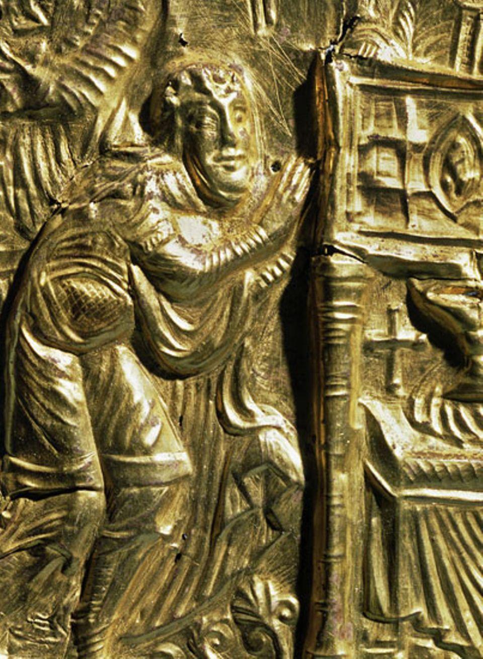 Das Relief aus dem 10. Jahrhundert zeigt König Harald - bekannt als Harald Blauzahn (911-987)