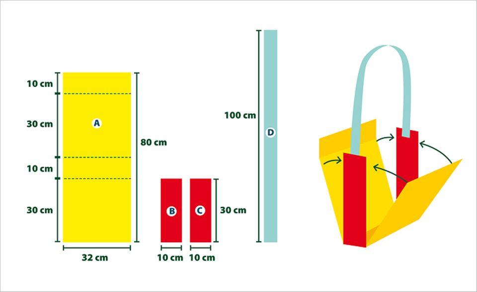 Verkleiden: Schnittmuster für die Schultertasche