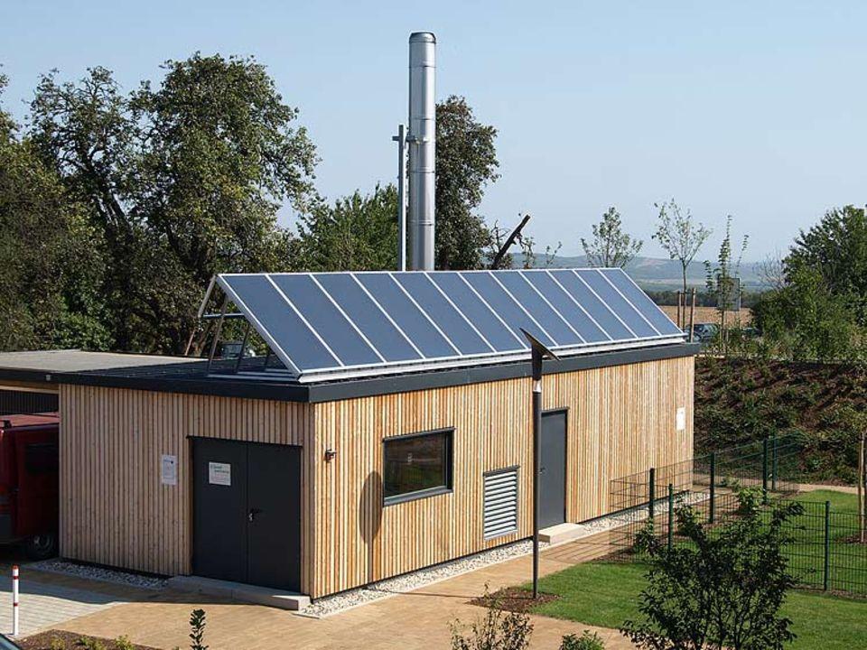 Energieeffizienz: Die sogenannte Energiekabine bündelt und optimiert die Energieversorgung und den Energiebedarf der juwi-Gebäude