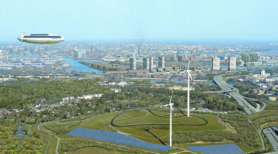Konzept Erneuerbares Wilhelmsburg: Wenn es nach IBA-Chef Hellweg geht, ist der Stadtteil bis 2050 CO2-neutral