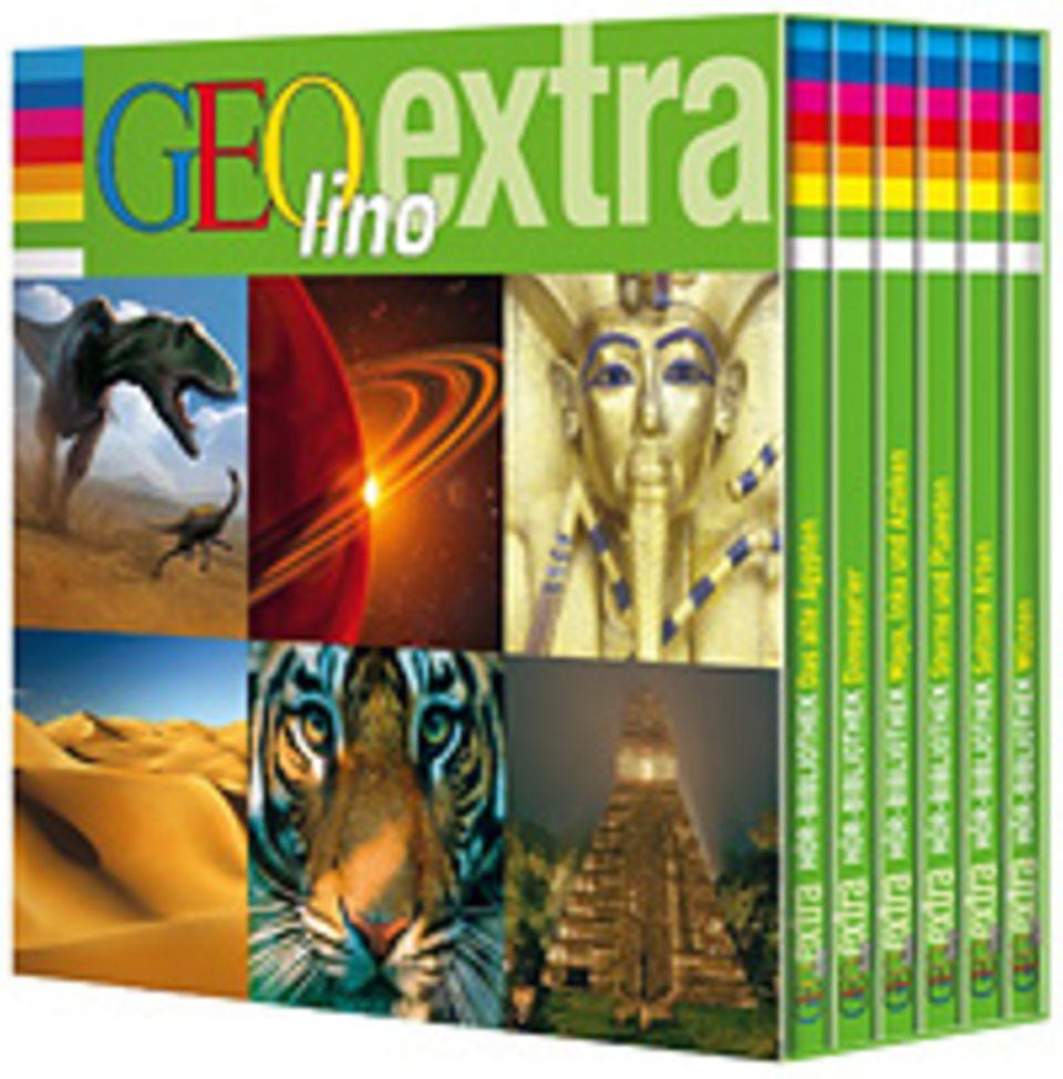 Die GEOlino-Hörbuchbox enthält spannende Inhalte aus sechs Heften