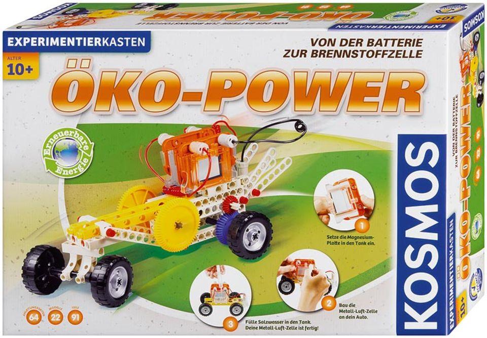 """Experimentierkästen: Mit """"Öko-Power"""" lassen sich mehr als 22 Versuche tätigen"""
