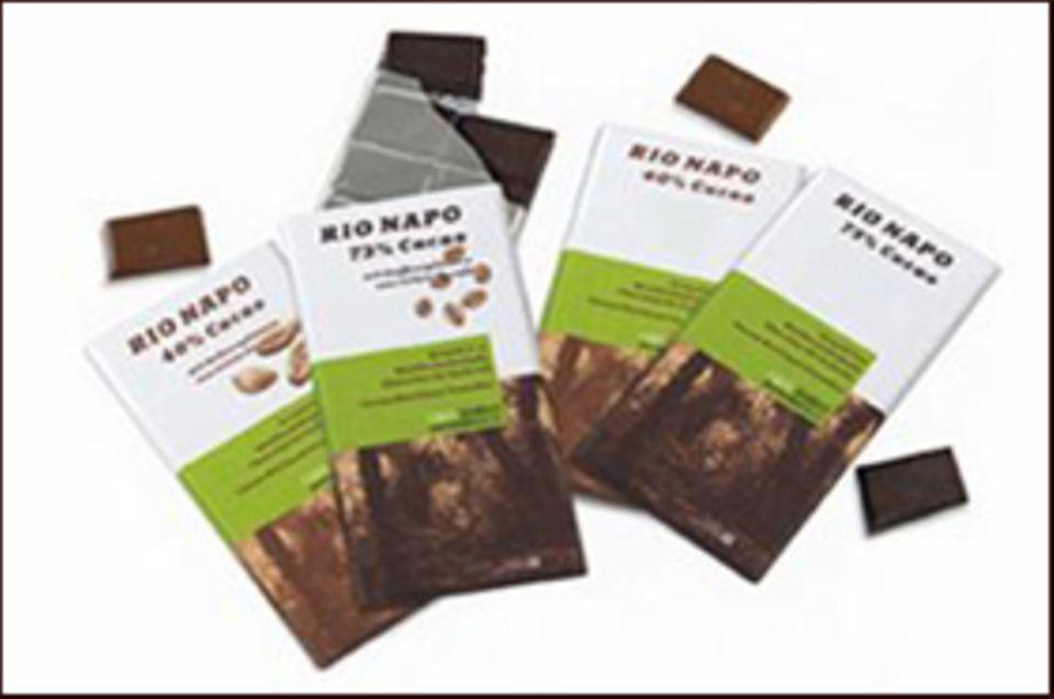 Köstlichkeiten zum Schutz des Waldes: Die GEO Waldschokolade aus Ecuador gibt es in vier Varianten