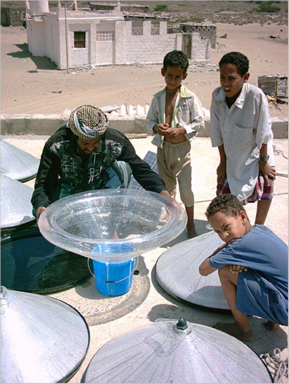 Meerwasserentsalzung: Im Feldversuch im Jemen hat sich der Watercone bewährt