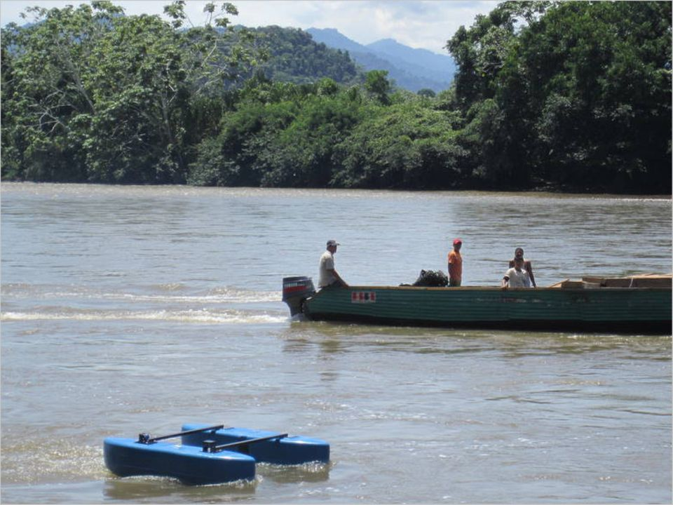 Diskret und umweltverträglich: Im peruanischen Amazonas hat die Smart Hydro Power-Turbine ihre Alltagstauglichkeit unter Beweis gestellt