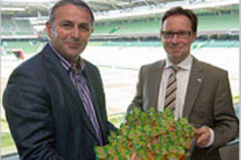 Neuer Werder-Sponsor: Kicken mit Chicken