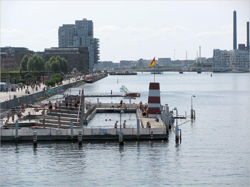 Schwimmen im Hafenwasser - kein Problem bei derart sauberem Wasser