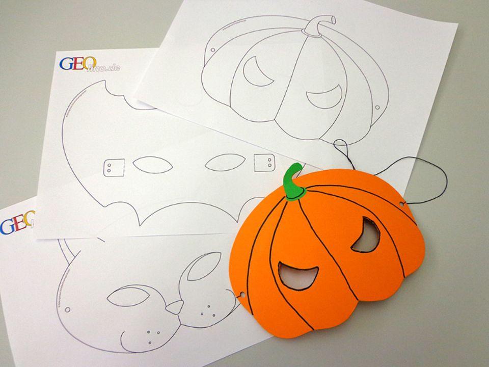 Basteltipp: Halloweenmasken basteln