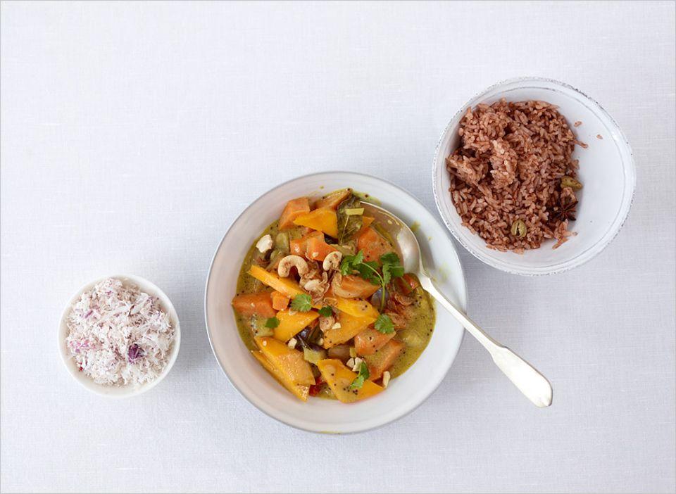 Rezept: Vegetarisches Curry mit Kick
