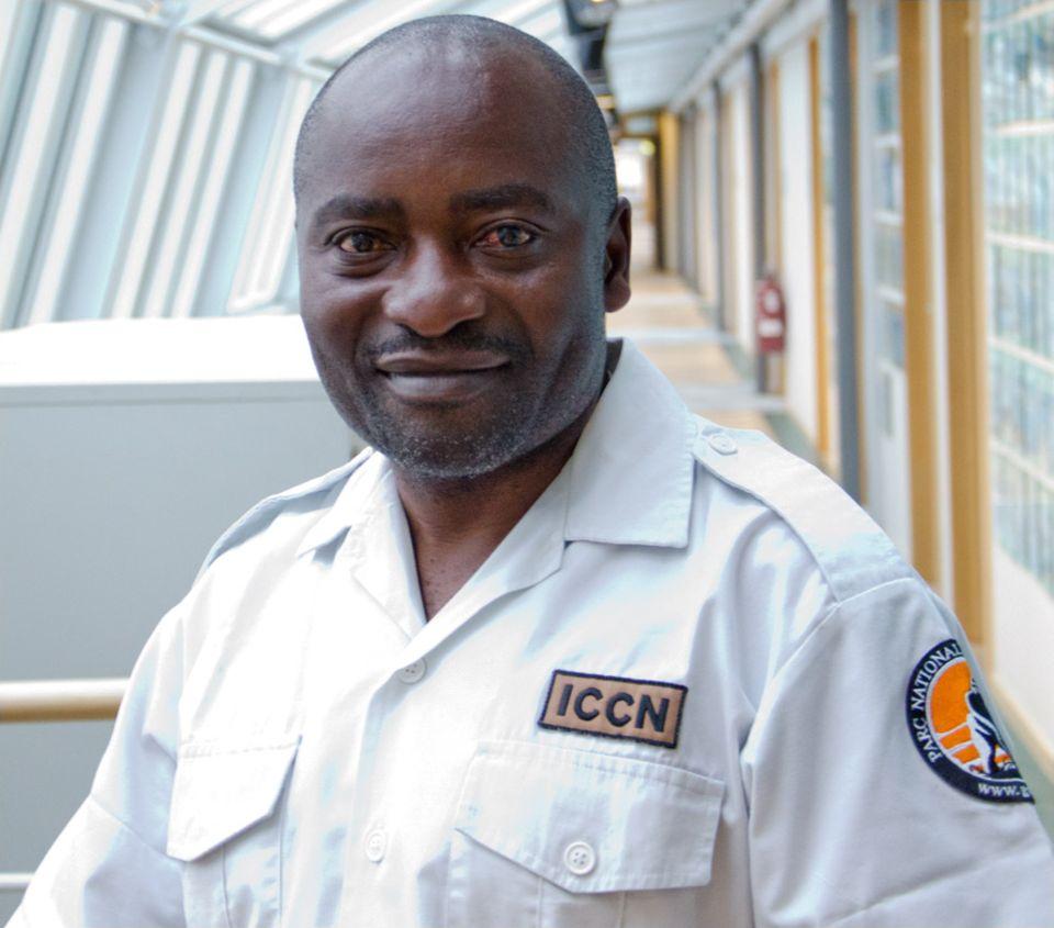 Zu Gast in der Hamburger GEO-Redaktion: Ephrem Balole, ehem. stellvertretender Virunga-Parkleiter