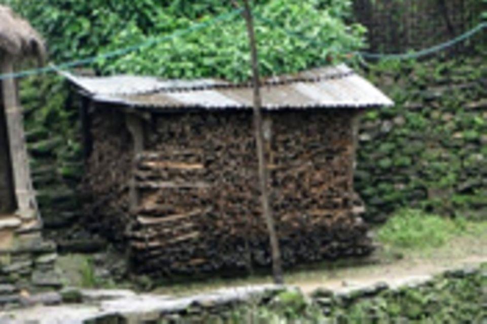 Biogasanlagen für Haushalte in Sankosh, Nepal