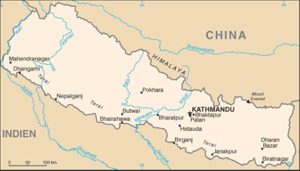 Nepal: NCDC - Karte von Nepal