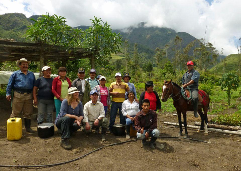 Projektgruppe beim Besuch von Eva Danulat 2014