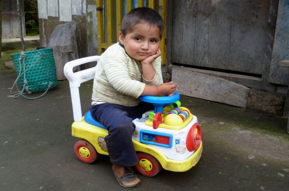 Einer der jüngsten Bewohner der Gemeinde Irubí