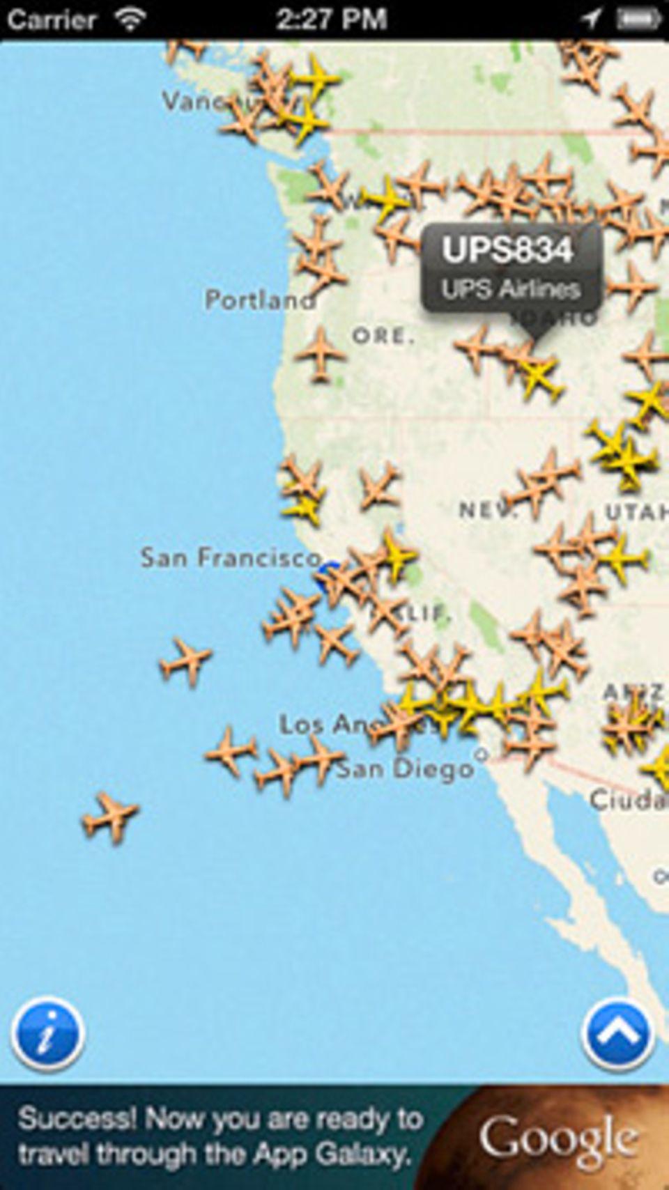 Flightradar scannt die Flieger am Himmel