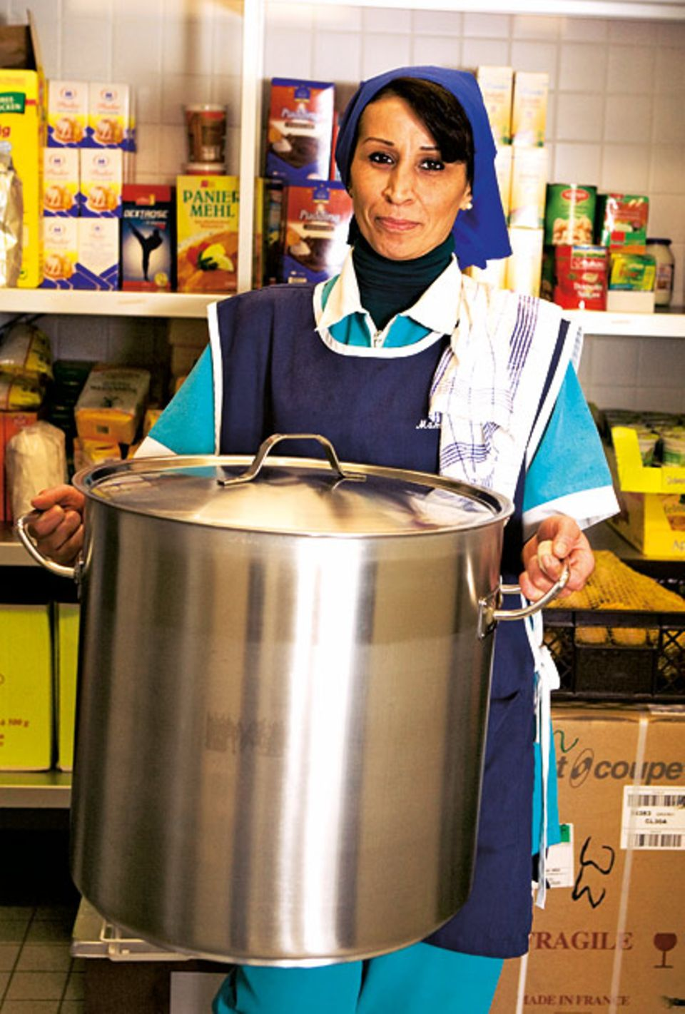 Ernährung: Kochen in Riesentöpfen: Das ist das größte Modell, das es in der Schulküche gibt