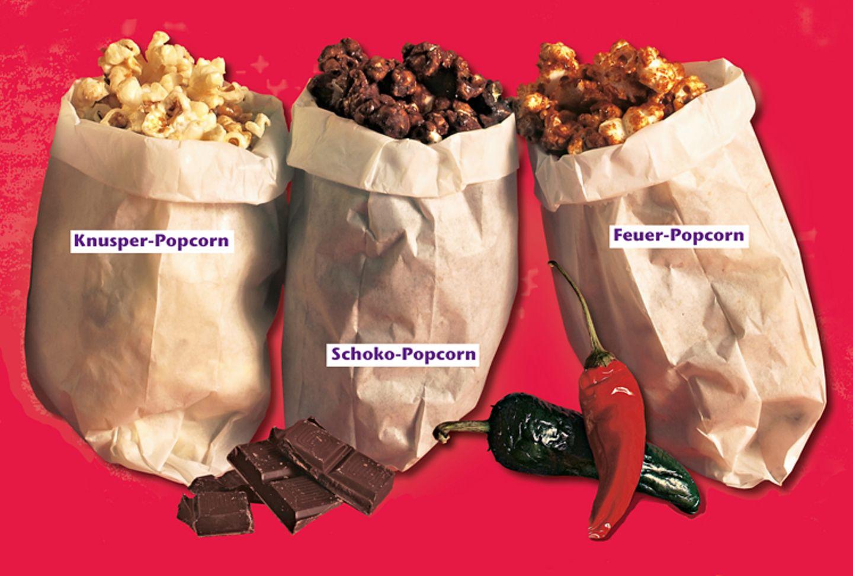 Rezeptesammlung: Auch mit Popcorn kann man rumexperimentieren. Wir zeigen euch drei Möglichkeiten, wie ihr euer Popcorn nochmal aufpeppen könnt