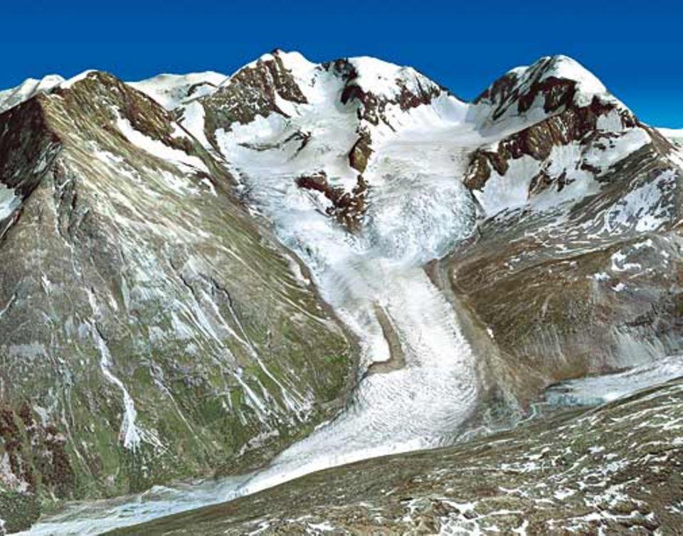 Globale Erwärmung: Der Roseg-Gletscher vor 120 Jahren