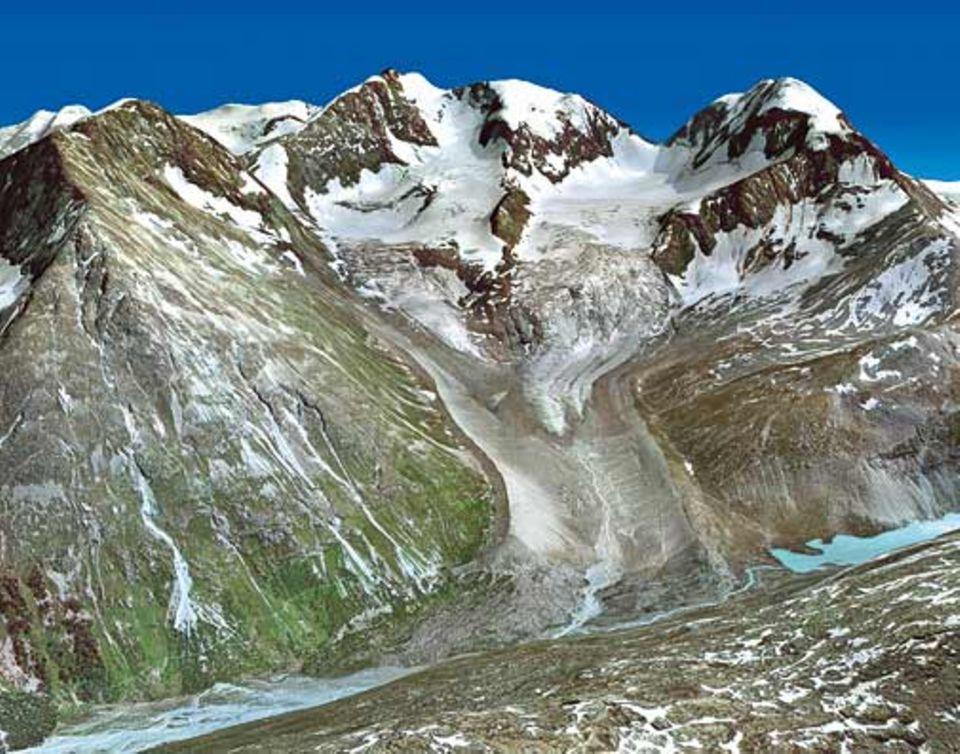 Globale Erwärmung: Der Roseg-Gletscher 2015