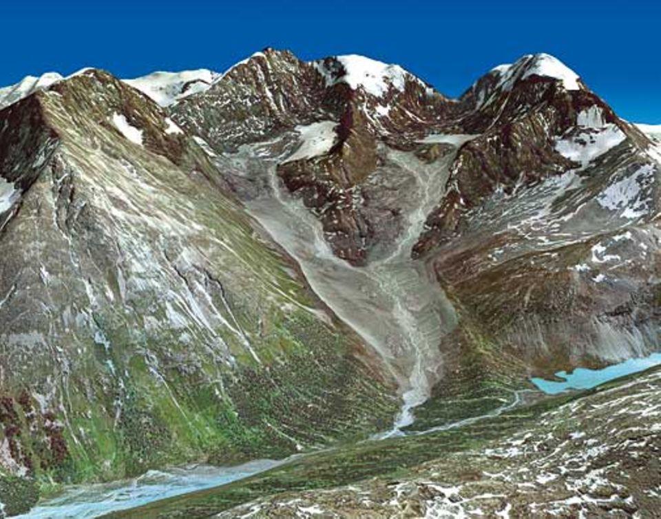Globale Erwärmung: Der Roseg-Gletscher in 120 Jahren