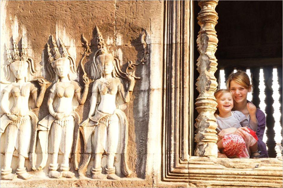 Interview: Mutter und Tochter entdecken die Tempelanlagen von Angkor in Kambodscha