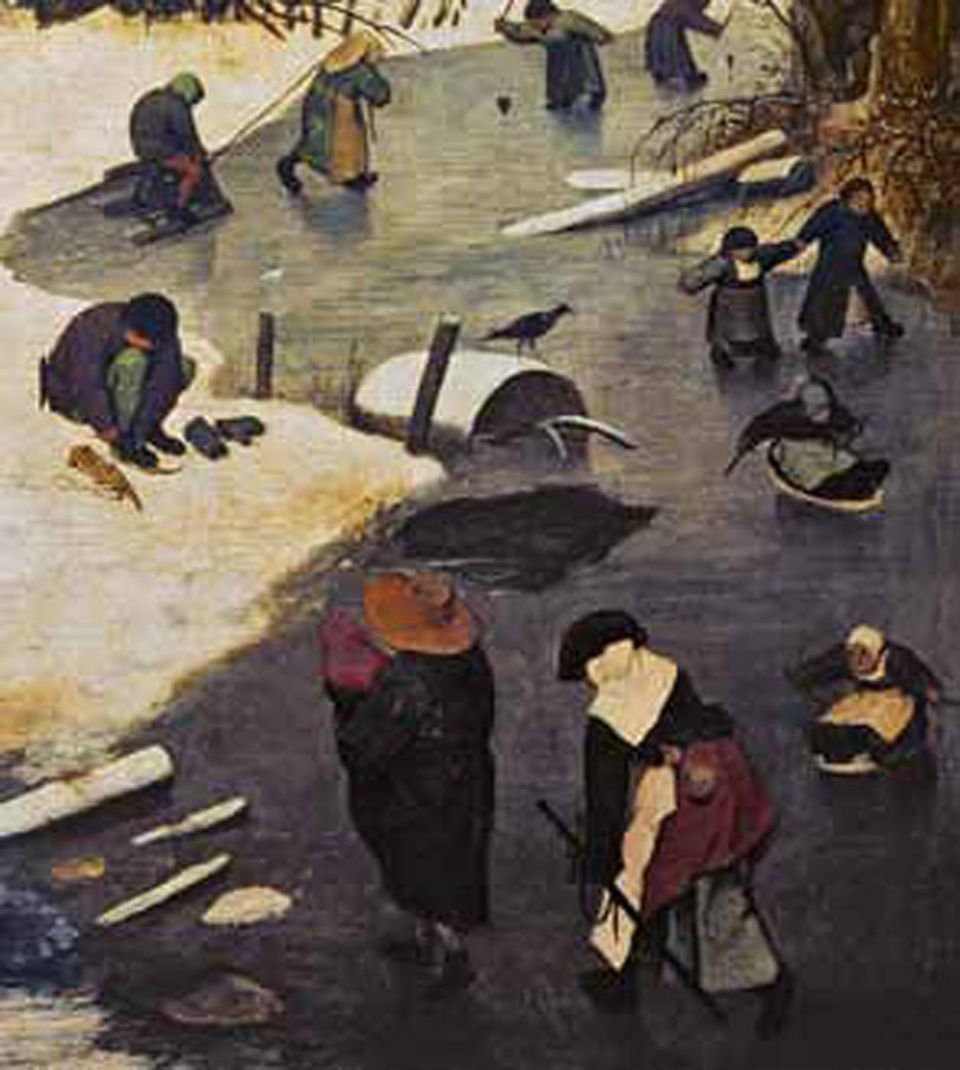 Kunstgeschichte: In Kälte erstarrt: Bruegel zeigt fröhlich spielende Kinder – deutet damit in Wirklichkeit aber auf eine verhängnisvolle Klimaveränderung hin: eine kleine Eiszeit, eine Ära bitterkalter Winter, schlechter Ernten und Hungersnöte