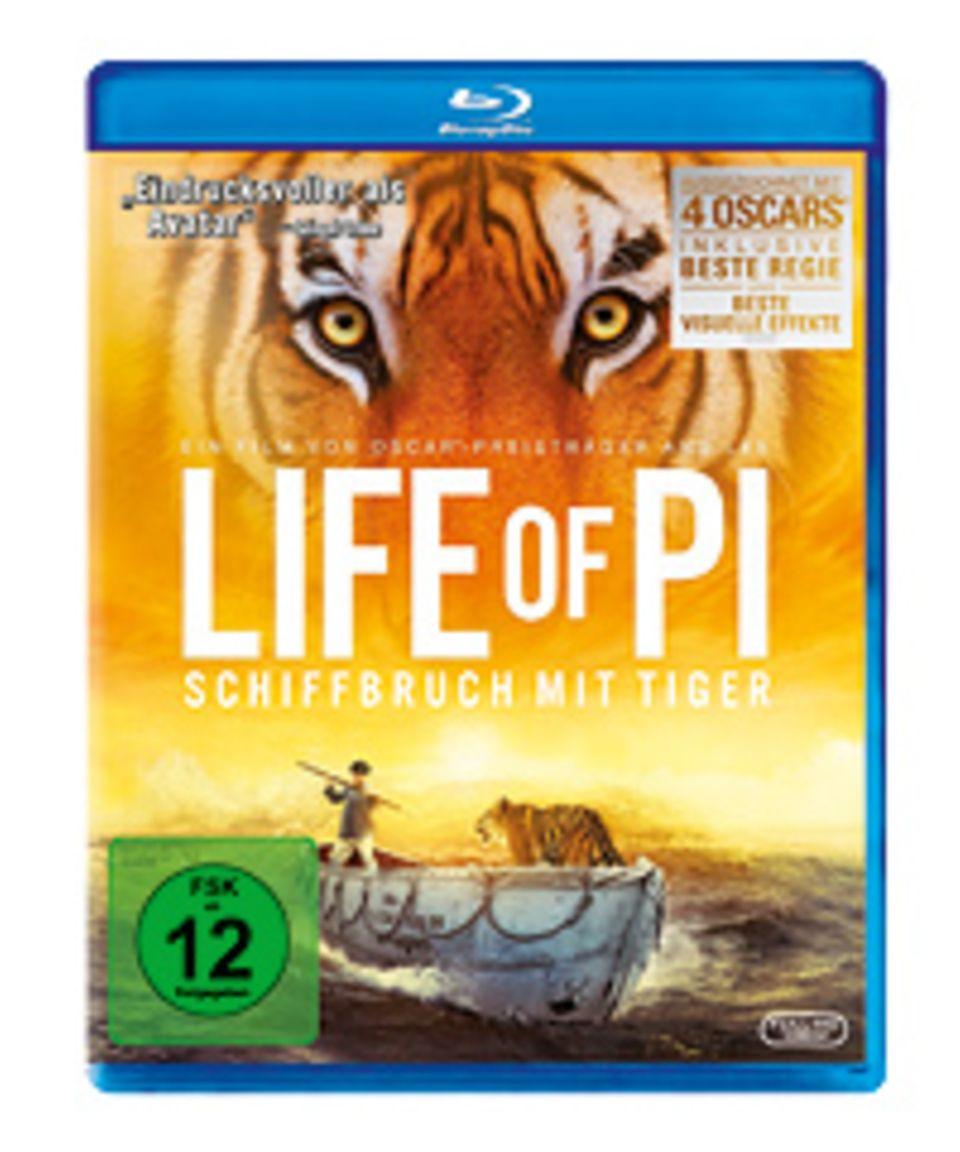 Schiffsbruch mit Tiger: Life of Pi ist seit dem 25.04.2013 auf DVD erhältlich