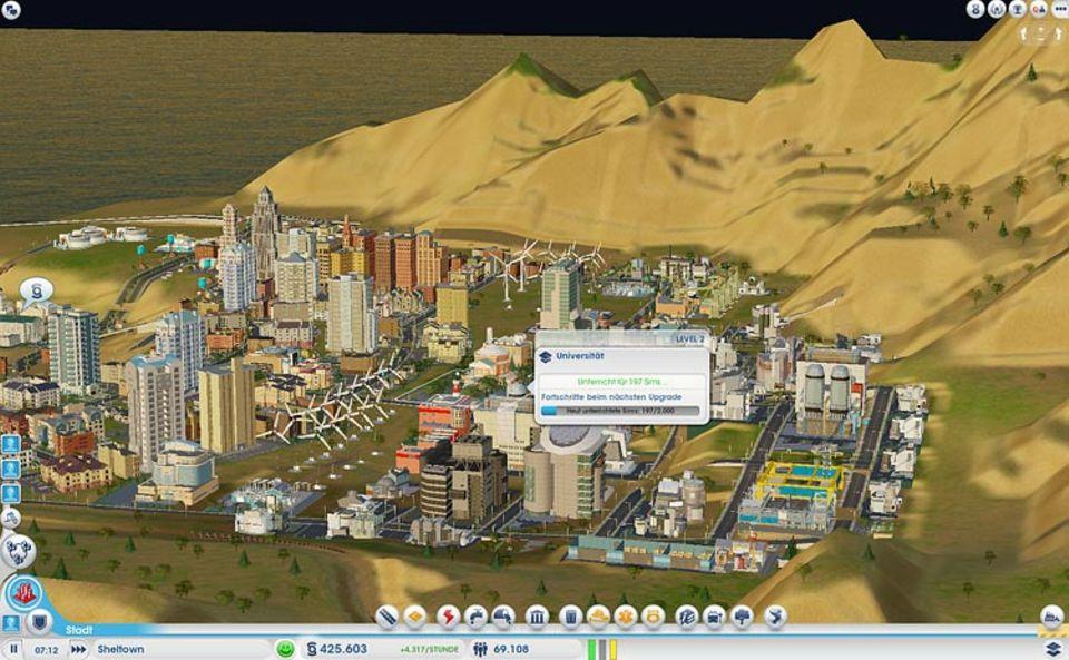Spieletests: Beim Bau von Schulen, Universitäten und anderen Einrichtungen müsst ihr genau planen, wo ihr diese in eurer Stadt baut