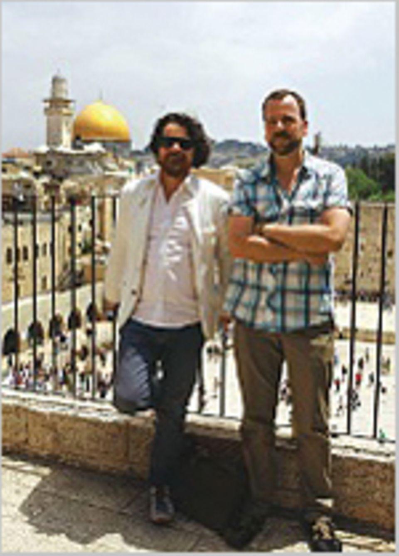 Jerusalem: Fotograf Peter Rigaud und Autor Johannes Strempel (r.) vorm Felsendom