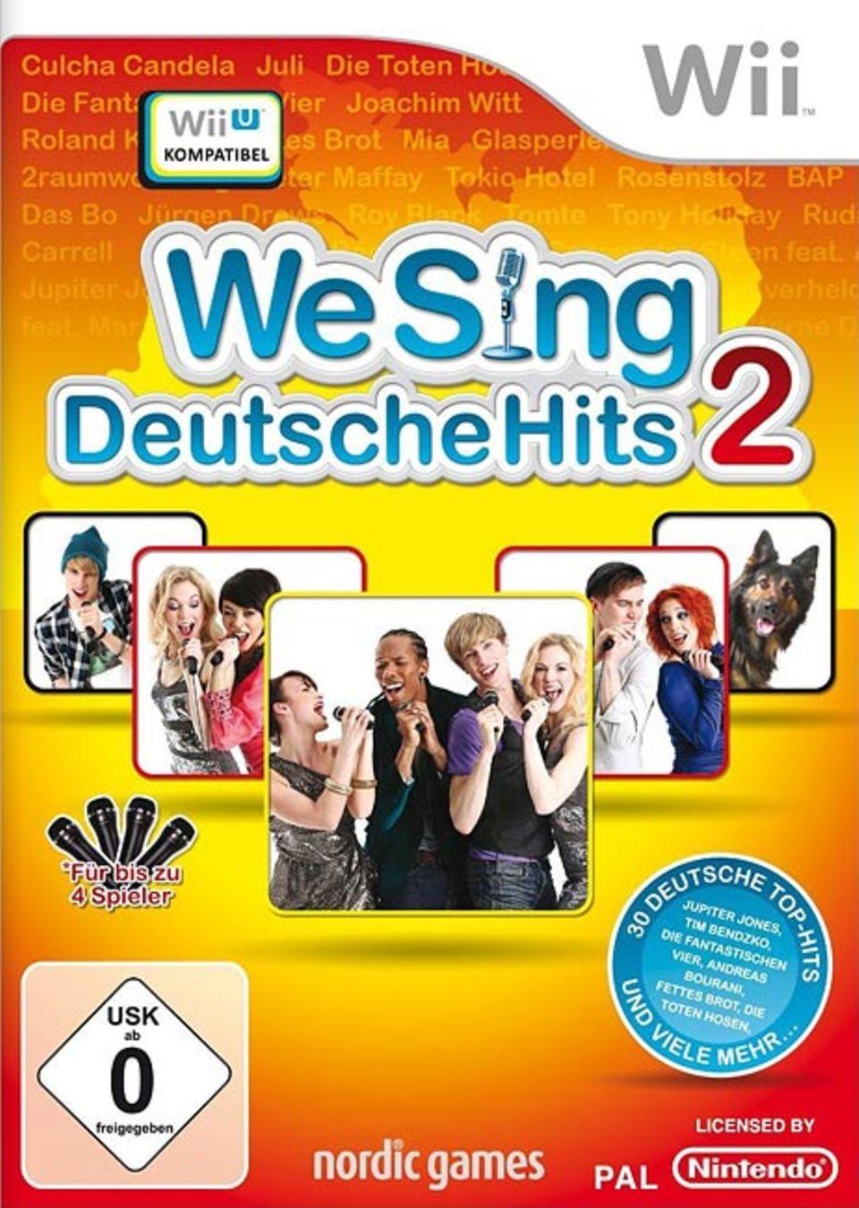 """Spieletests: Mit """"We Sing: Deutsche Hits 2"""" kann die Nintendo Wii auch mit anderen Karaoke-Spielen mithalten"""