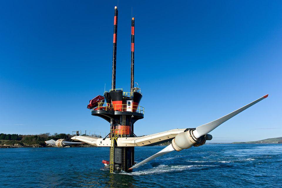 Energie: Strom aus dem Meer: in den Gewässern zwischen Frankreich und Großbrittanien liegen etwa vier Fünftel des europaweiten Gesamtpotenzials für Strömungskraftwerke