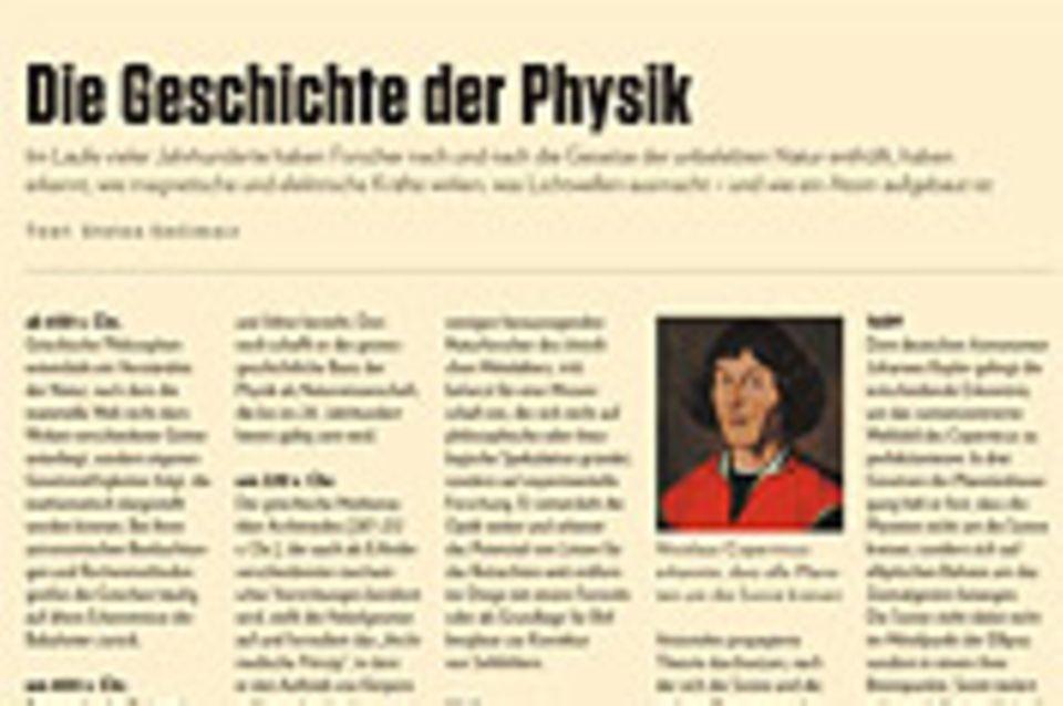 Chronik: Die Geschichte der Physik