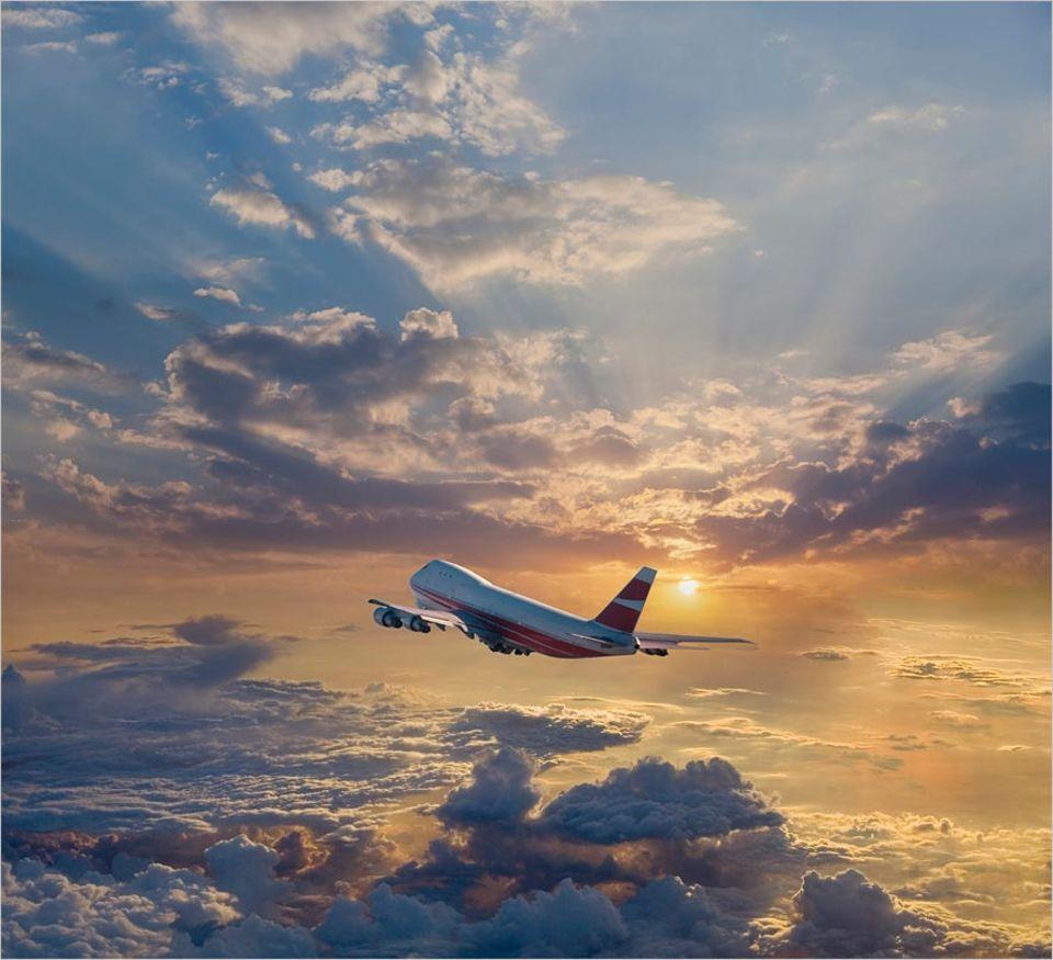 Gib mir fünf: Eines der sichersten aber leider nicht der umweltfreundlichsten Verkehrsmittel - das Flugzeug