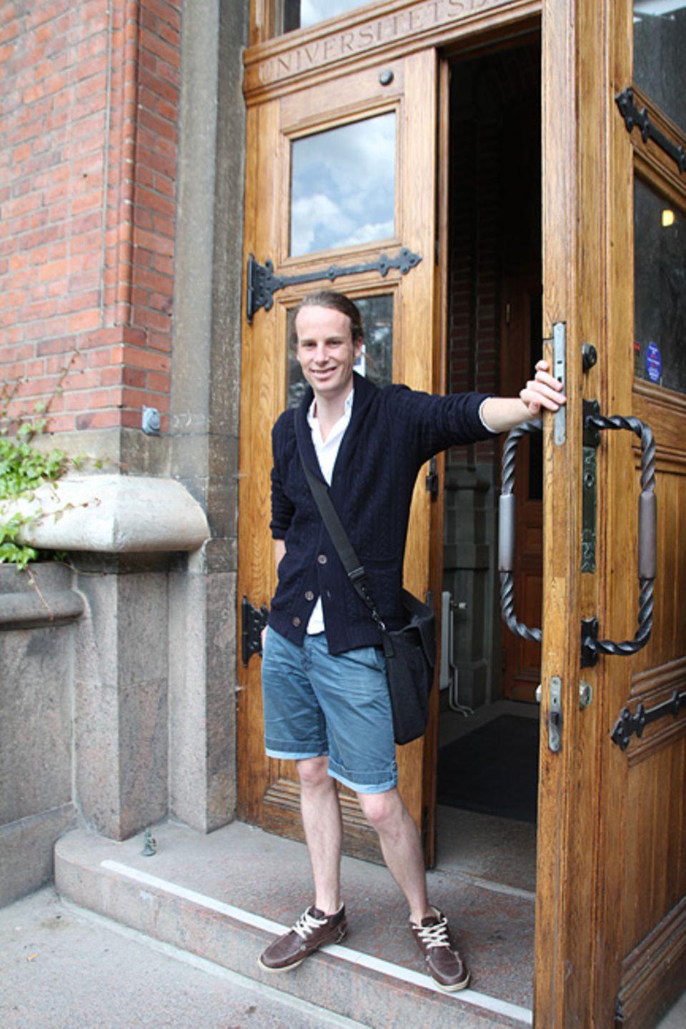 """Lund: Anton Rosenberg hat gerade seinen Bachelor in Architektur bestanden. Der 24-jährige sagt: """"Lund ist nichts ohne die Studenten."""""""
