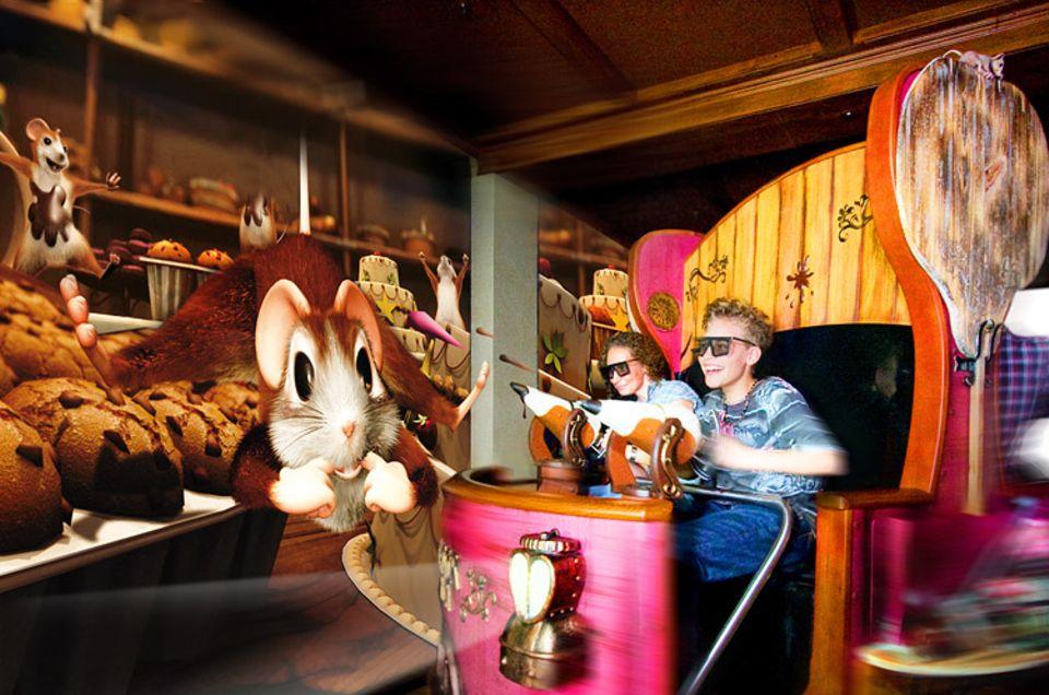 """Freizeit: Im """"Maus-au-chocolat"""" kann man mit Schokobällchen auf Mäuse schießen"""
