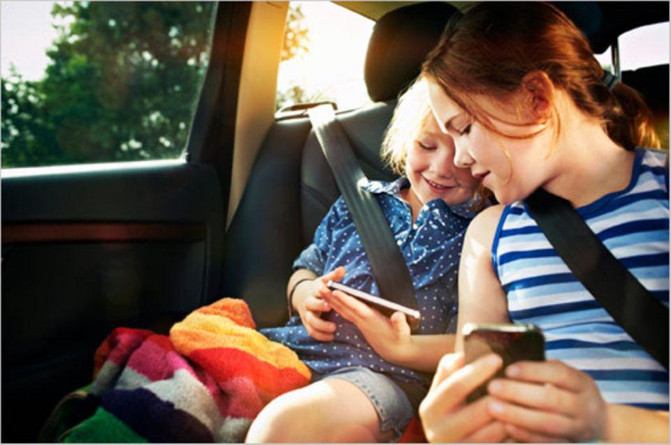 Apps für Kinder: Die richtigen Apps können Langeweile auf der Rückbank vorbeugen