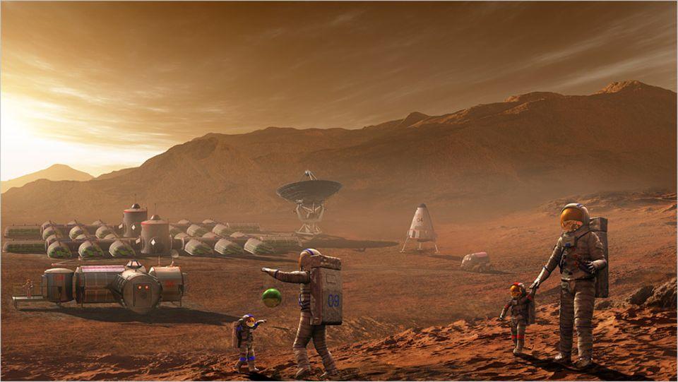 Raumfahrt: Leben auf dem Mars - schon bald Wirklichkeit?