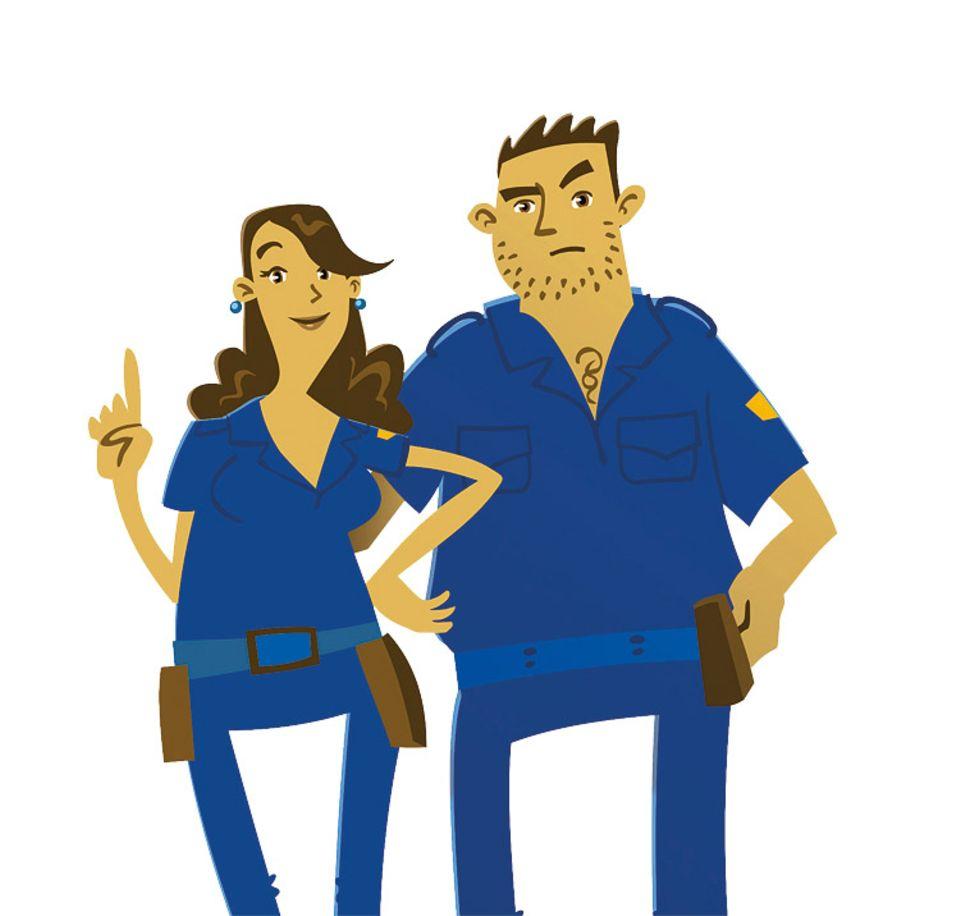 Gewinnspiel: Rosa Rosario und Pablo Gomez von der Polizei von Golfito