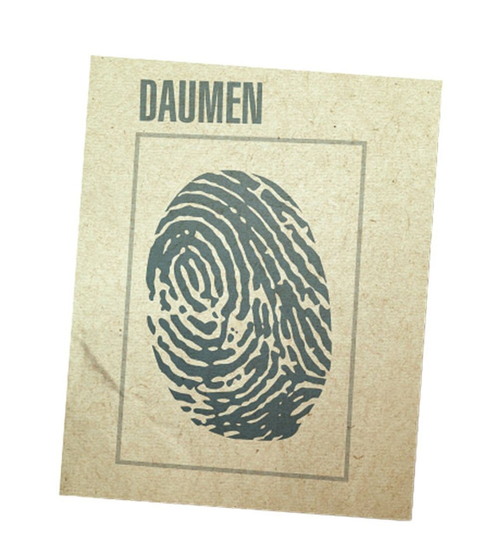 Gewinnspiel: Peter Heinzelmanns Fingerabdruck