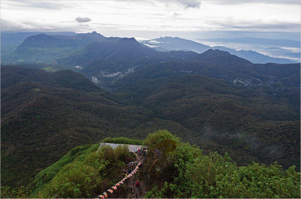 Ozeanische Erlebnisse: Wer den Adam's Peak erklimmen möchten, muss 1000 Höhenmeter überwinden
