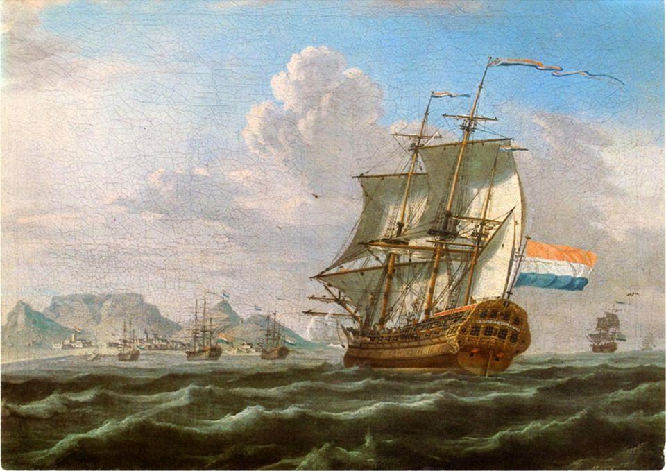 Ostindienfahrer an der Südspitze Afrikas: Die Kapitäne der VOC, der ersten modernen Aktiengesellschaft der Geschichte, schrecken für Profit vor nichts zurück