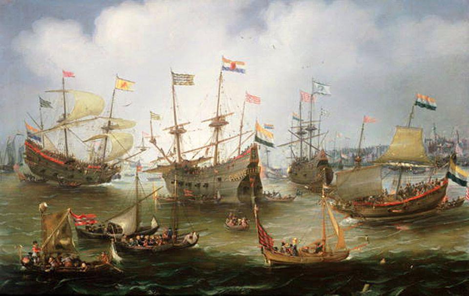 Rückkehr der Ostindienflotte nach Amsterdam: Die VOC wächst binnen weniger Dekaden zur größten Handelsgesellschaft der Welt heran. Fast 200 Jahre wird das Unternehmen der Kaufmannskrieger bestehen - bis Misswirtschaft und Korruption ihm 1799 ein Ende bereiten