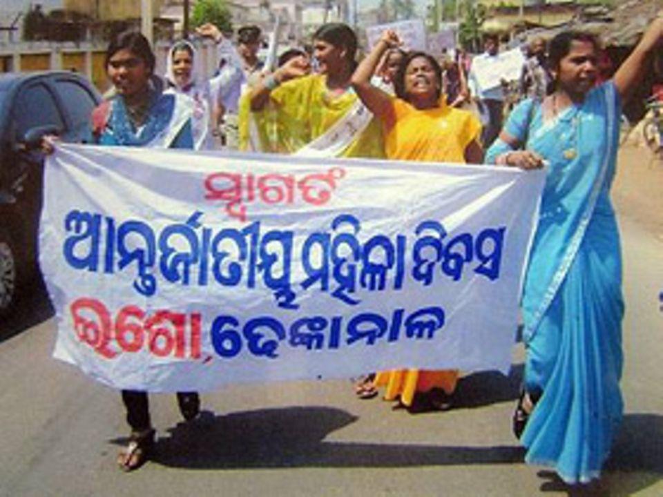 Frauenrechte: Indische Frauen gehen für ihre Rechte auf die Straße und protestieren