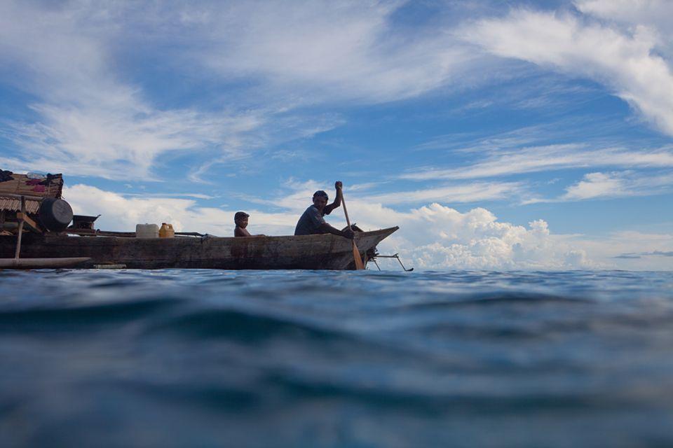 Musirs Heimat ist die molukkische See. Er ist Bajau, Seenomade