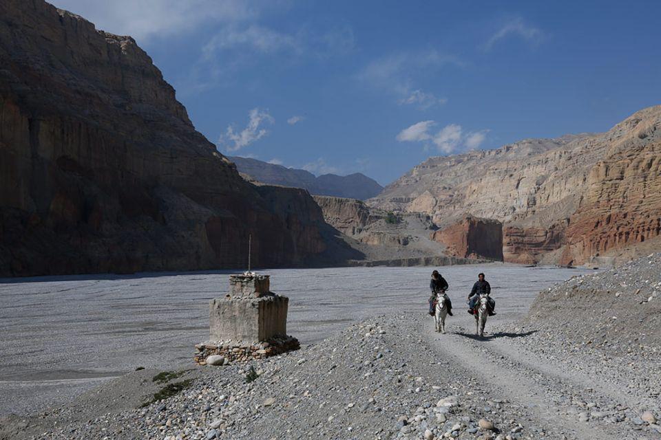 Mustang, ein Hochtal im Himalaja leidet stark unter dem Klimawandel