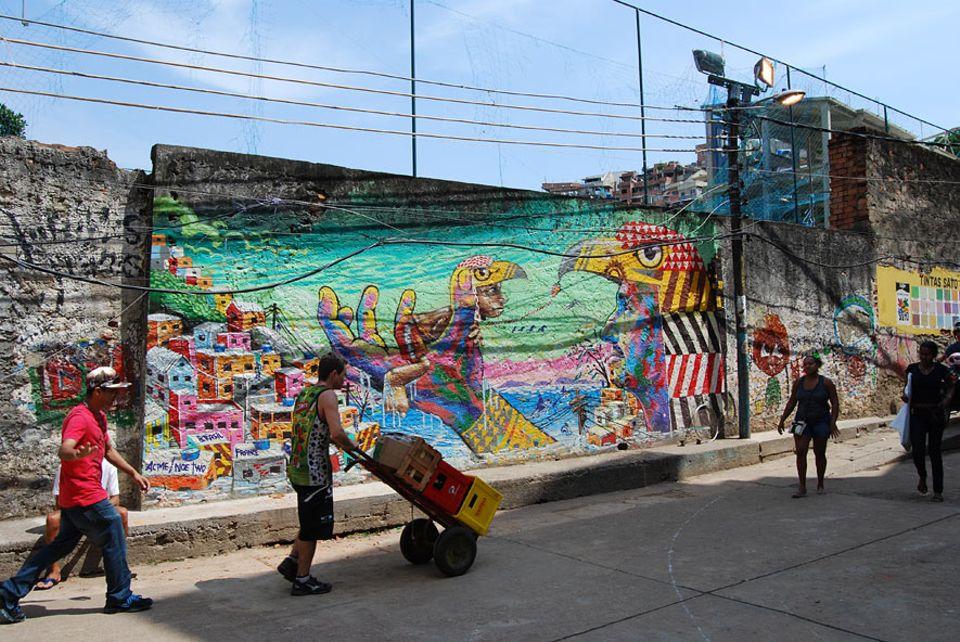 """Rio de Janeiro: Graffiti-Künstler """"ACME"""" war nicht nur erster Präsident des """"Museu de Favela"""" er verewigte sich auch gleich selbst"""