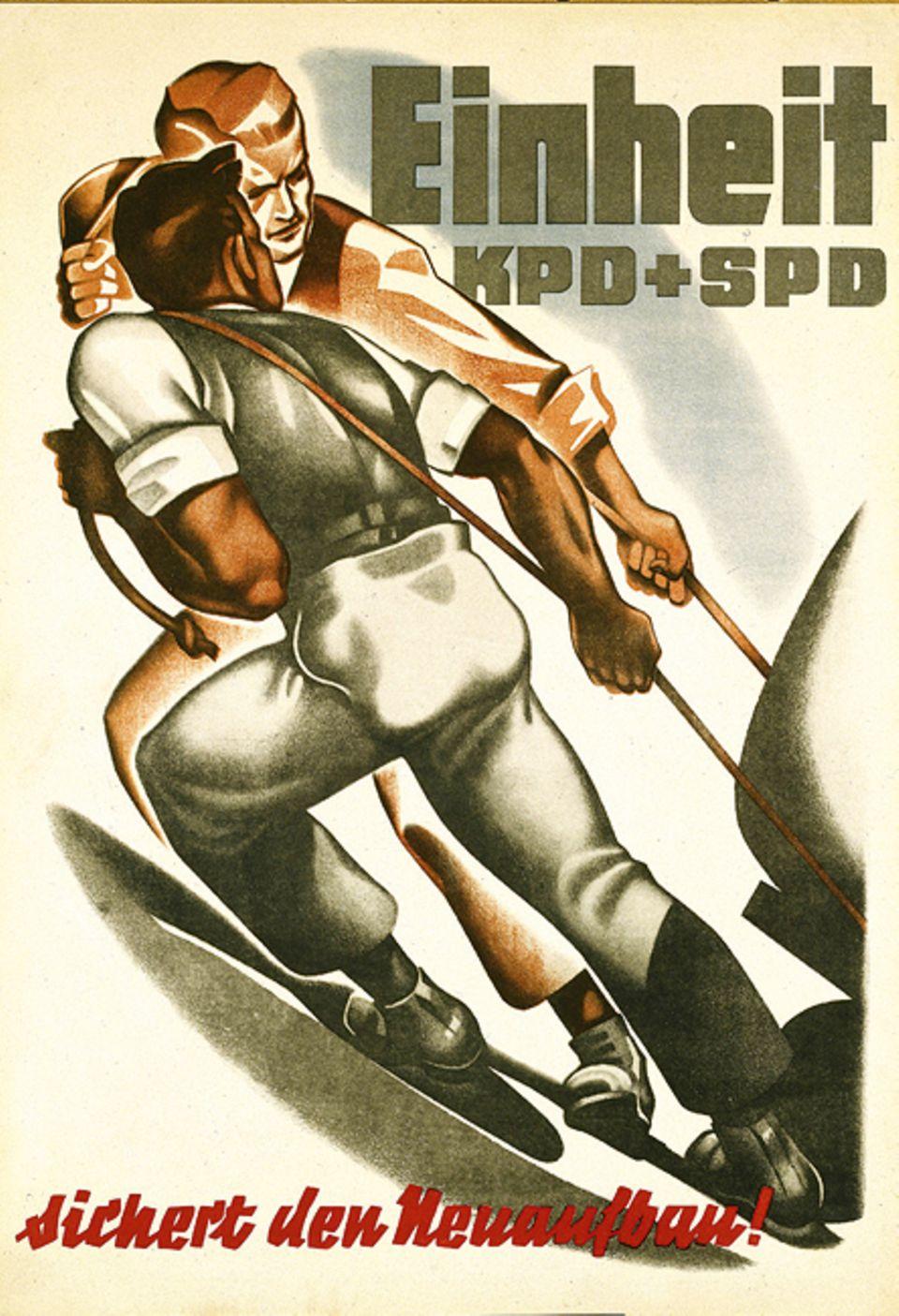 1949: Gründung der DDR: Die KPD wirbt für eine Einheitspartei mit der SPD: Ohne die Sozialdemokraten hätte sie keine Chance auf eine Mehrheit