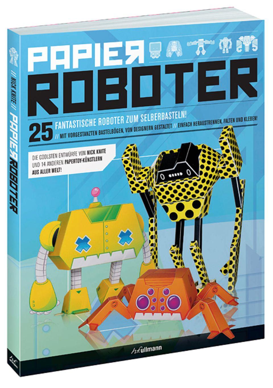 Bauanleitung: Papier-Roboter basteln